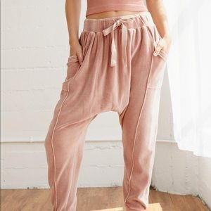 NWT Free People In The Slick Of It Velour Pants